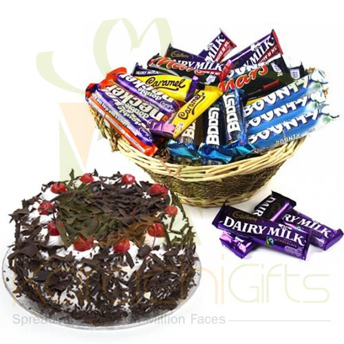 Cake With Choco Basket