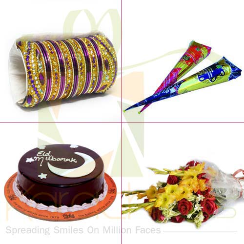 Choori Mehendi Cake Flowers