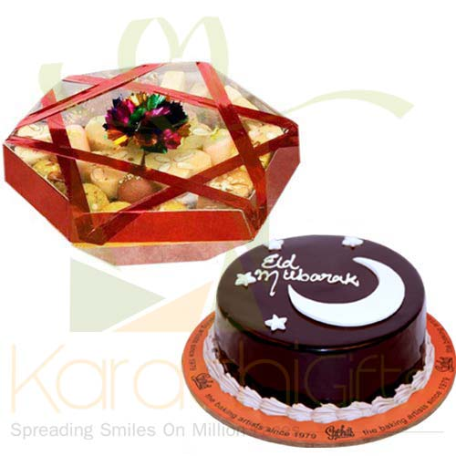Eid Cake With Mithai Tokra