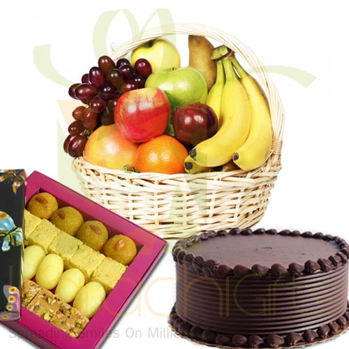 Fruits Mithai And Cake