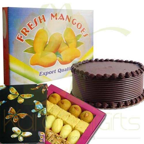 Mangoes With Cake Mithai