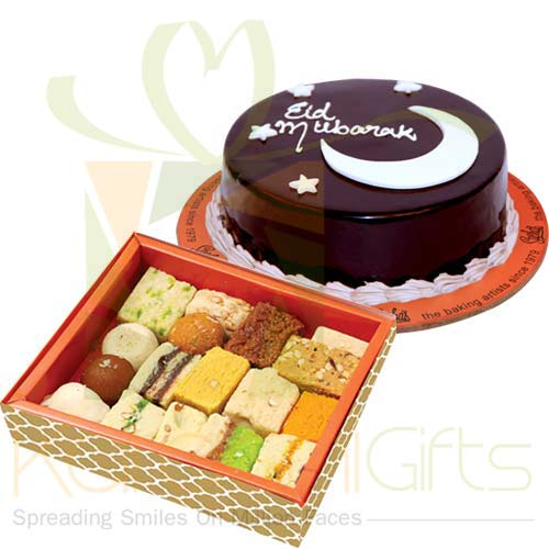 Mithai With Eid Cake