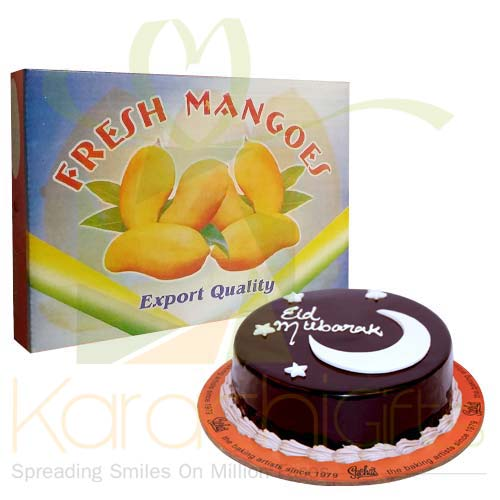 Mangoes With Eid Cake