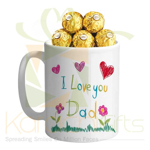 Dad Mug With Chocs
