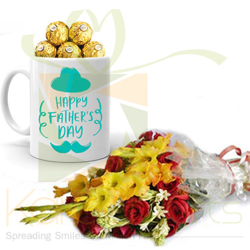 Ferrero Mug With Flowers For Pappa