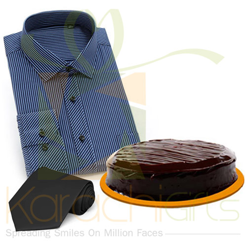 Shirt And Tie With Cake