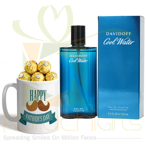 Perfume With Choco Mug For Abbu