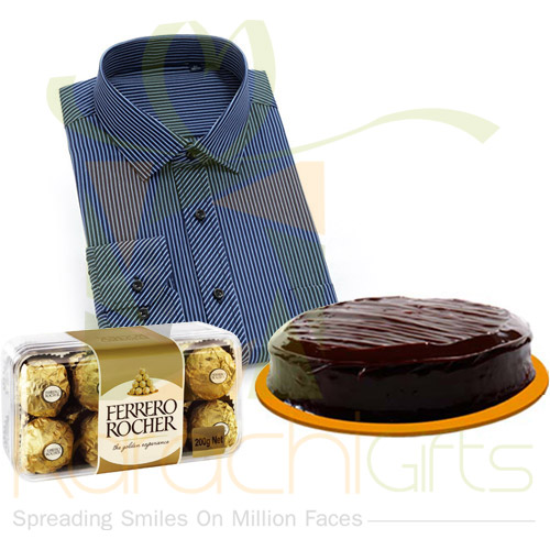 Shirt, Cake And Chocolates