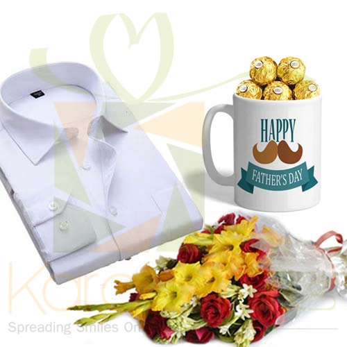 Shirt, Flowers And Chocolate Mug