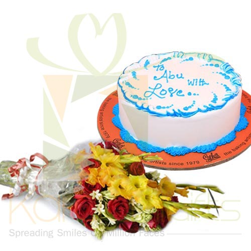 Fathers Day Cake With Flowers