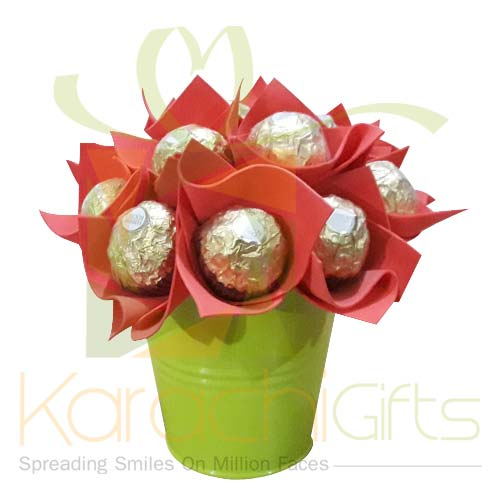 Ferrero Flower Bucket