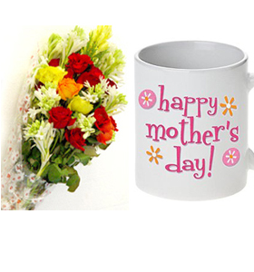 Flower Bouquet and Mothers Day Mug