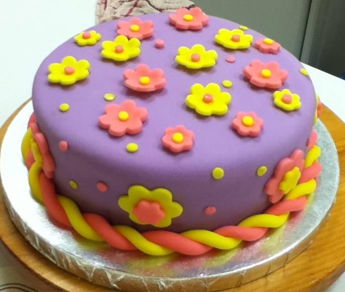 Floral Fondant Cake 3lbs