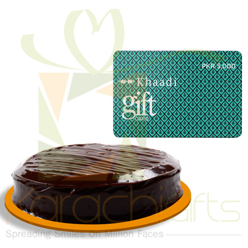 Cake With Gift Card