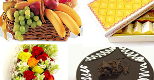 Flowers & Cake & Sweets & Fruit