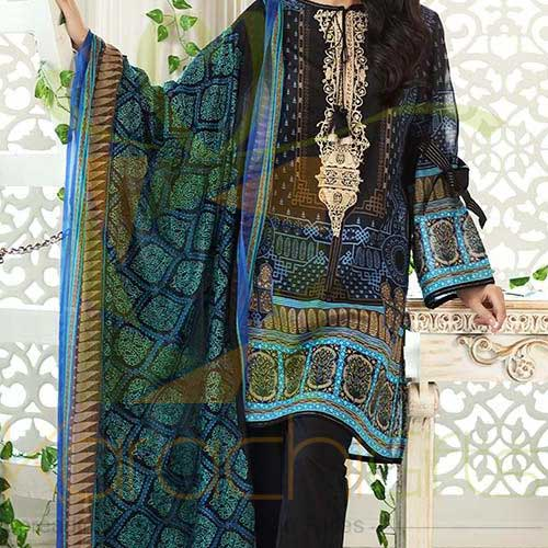 Black 3 Pc CPM-02 By Gul Ahmed