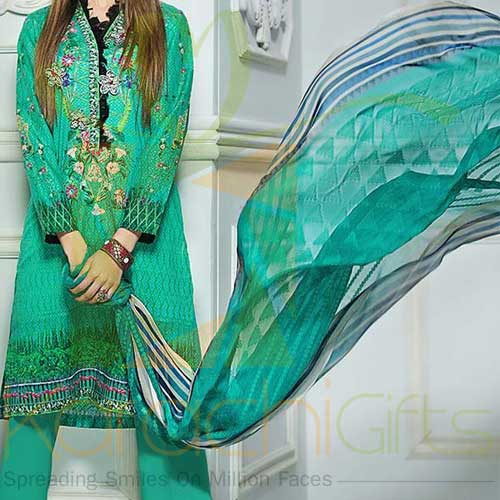 Sea Green 3 Pc CPM-03 By Gul Ahmed