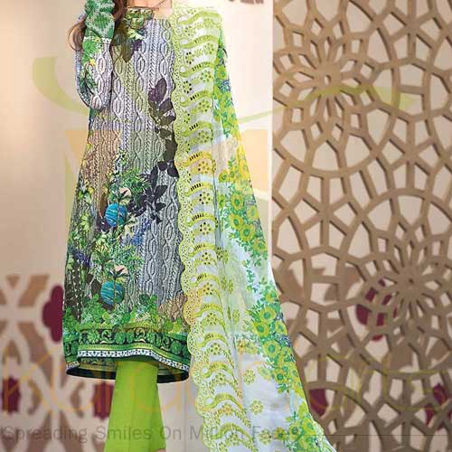 Green 3 Pc CT-244 By Gul Ahmed