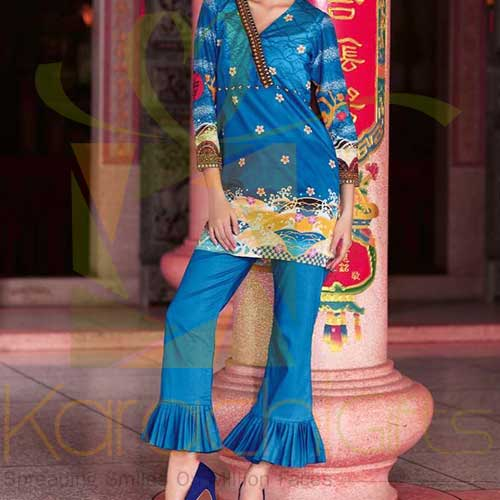 Blue 2 Pc TL-141 A By Gul Ahmed