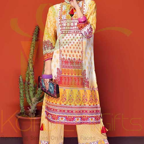 Yellow 2 Pc TL-144 B By Gul Ahmed