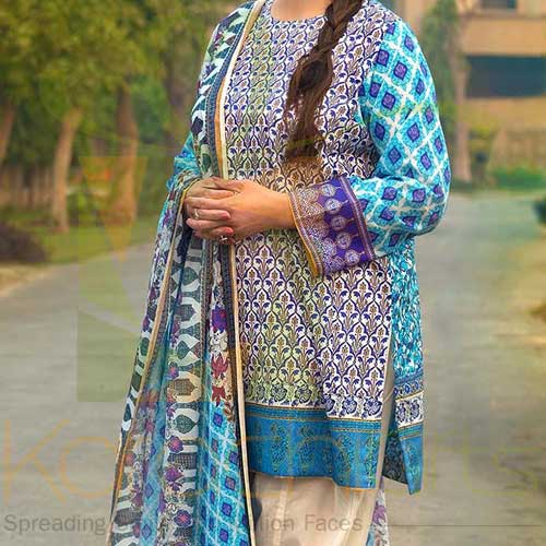 Blue 2 Pc TL-145 A By Gul Ahmed