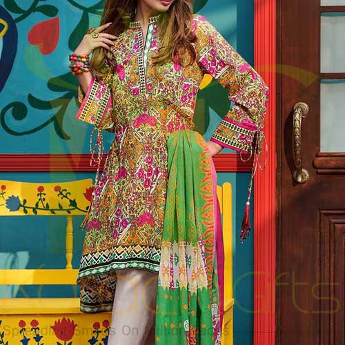 Multi 3 Pc Lawn By Gul Ahmed