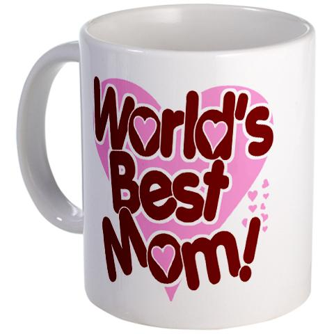 World Best Mom Heart Mug