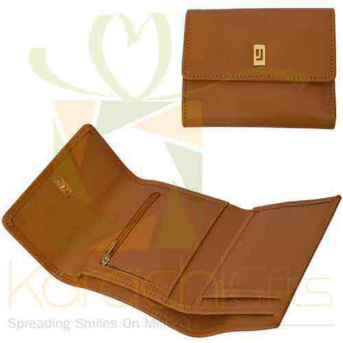 Vibrant Wallet Tan Gold