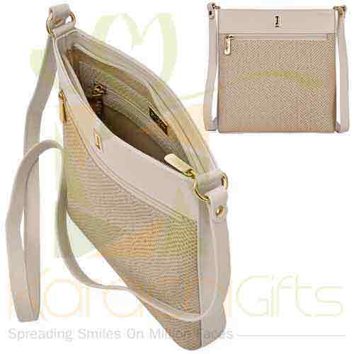 Crossbody Bag Beige Off White