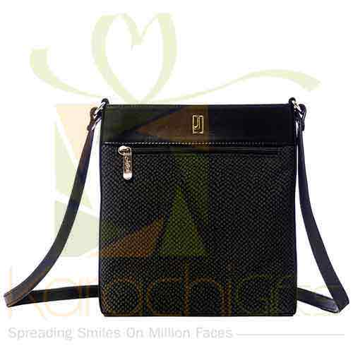 Crossbody Bag Black Silver