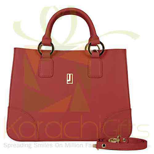 Medium Hand Bag Red Gold