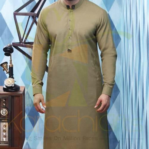 Green Suit By Junaid Jamshed