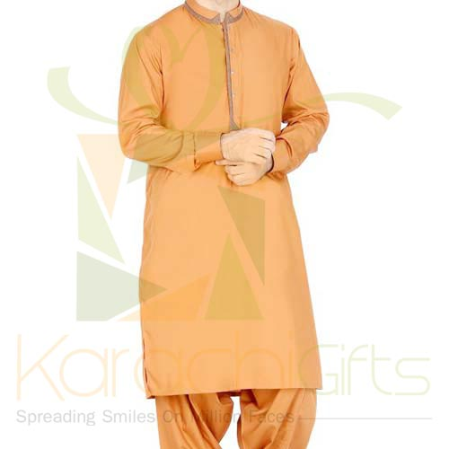 Light Brown Suit By Junaid Jamshed
