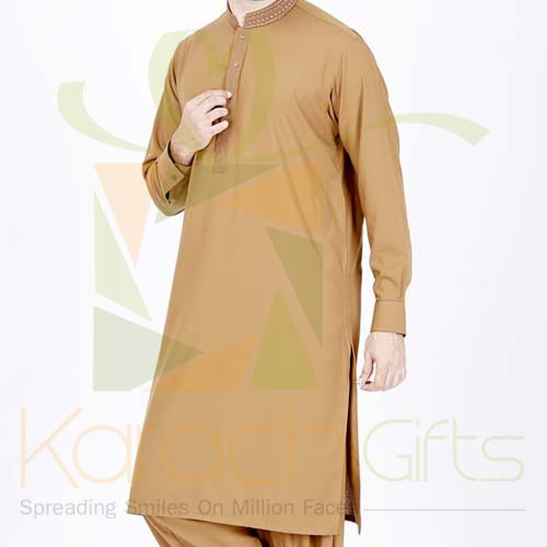 Brown Suit By Junaid Jamshed