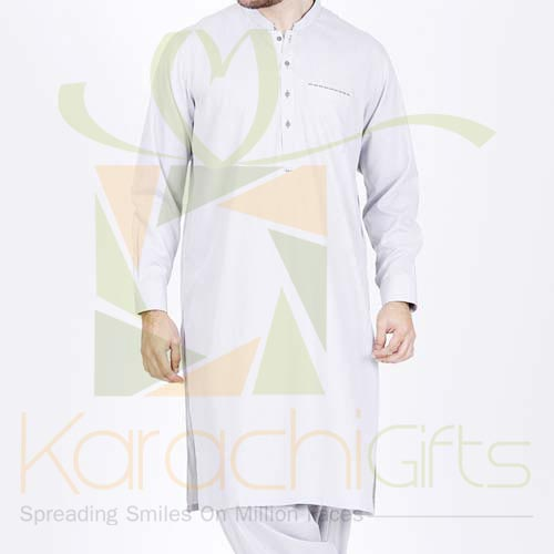 Grey Kurta By Junaid Jamshed