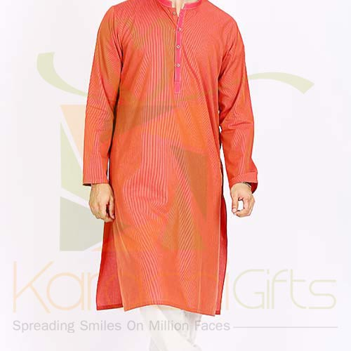 Orange Kurta By Junaid Jamshed