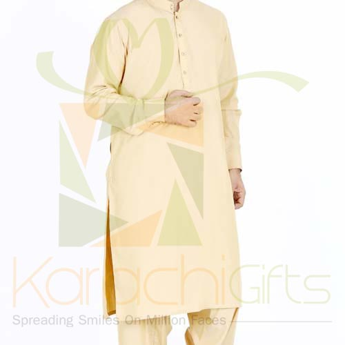 Light Gold Suit By Junaid Jamshed