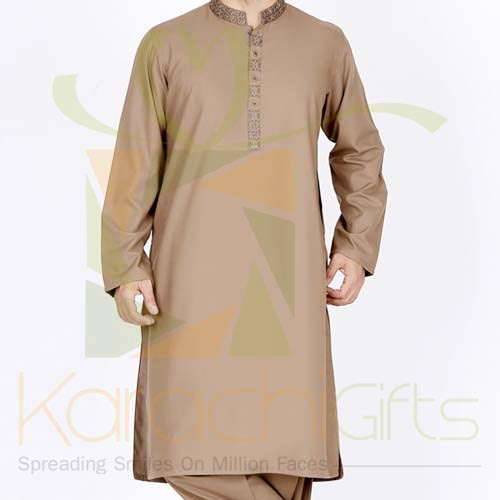 Green Kurta By Junaid Jamshed