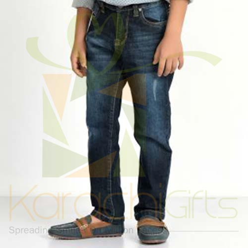 Navy Blue Regular Fit Jeans (Khaadi)