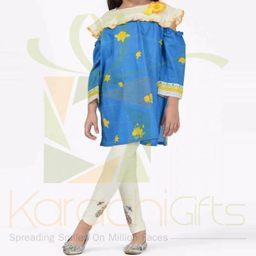 Blue Embroidered Kurta (Khaadi)