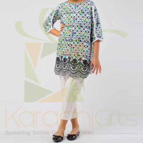 Grey Embroidered Kurta (Khaadi)