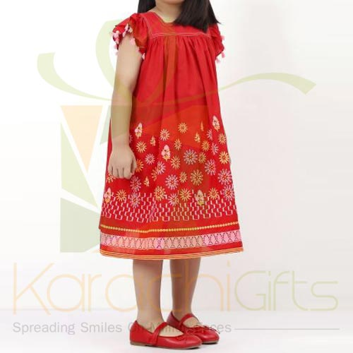 Red Embroidered Dress (Khaadi)