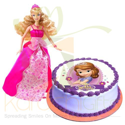 Barbie With Sofia Cake