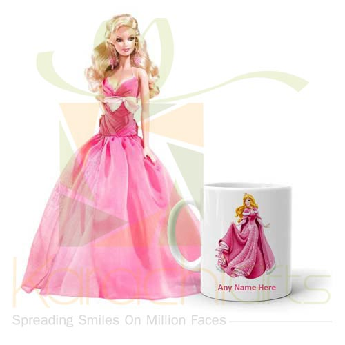 Barbie With Mug