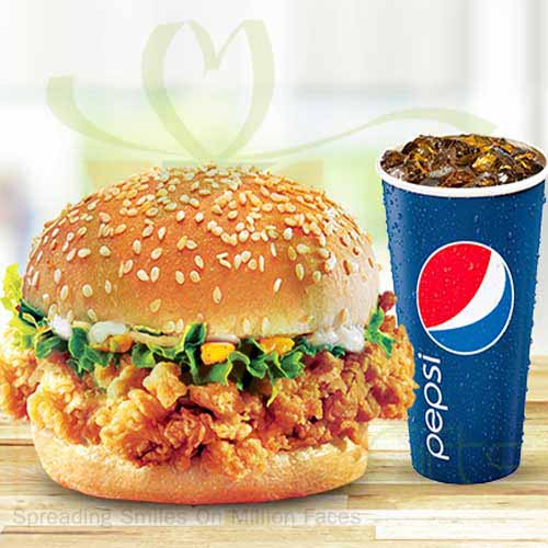 Krunch Burger with Drink - KFC