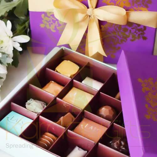 Purple Motif Box (16 Pcs) - By Lals