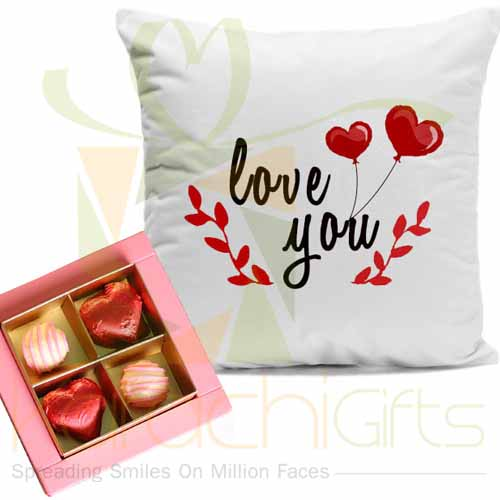 Lals Chocolate With Love Cushion