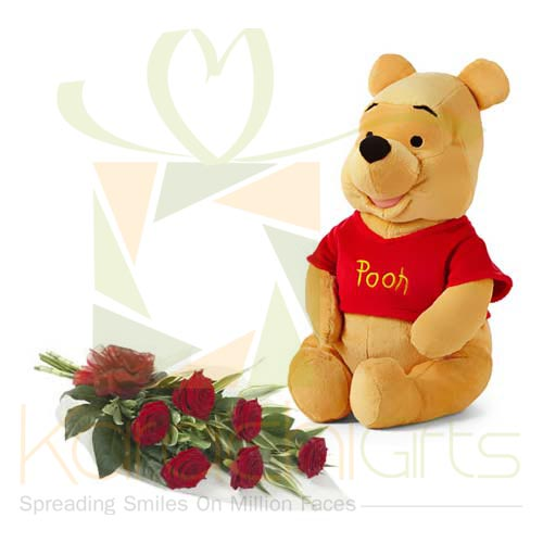Pooh With Roses