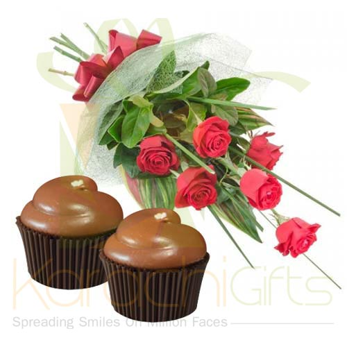 Roses With Cupcakes