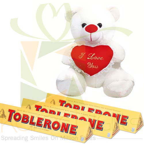 Teddy With Toblerone
